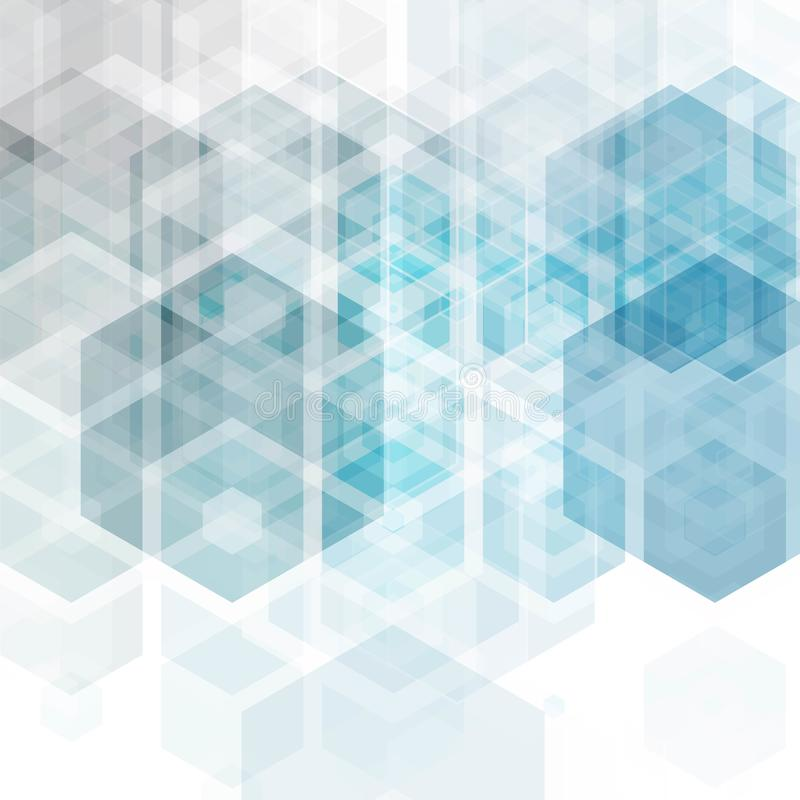 Предпосылка абстрактной науки вектора Дизайн шестиугольника геометрический 10 eps бесплатная иллюстрация