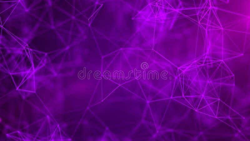 Предпосылка абстрактной науки Футуристическая технология 3d Предпосылка музыки абстрактная r r стоковое изображение