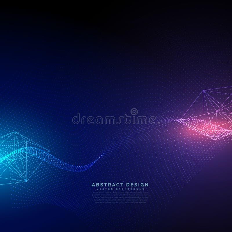 Предпосылка абстрактной технологии с вектором светового эффекта иллюстрация штока