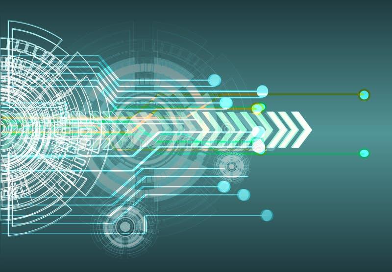 Предпосылка абстрактной технологии цифровым данным по кибер дела сети голубая иллюстрация вектора
