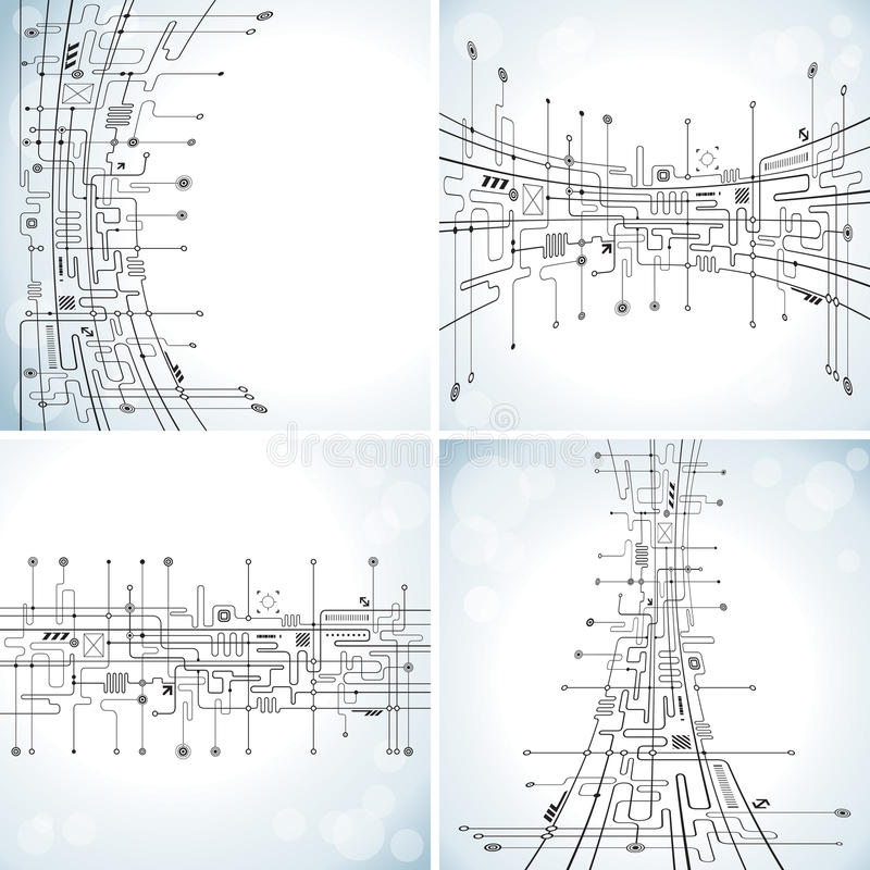Предпосылка абстрактной технологии иллюстрация штока