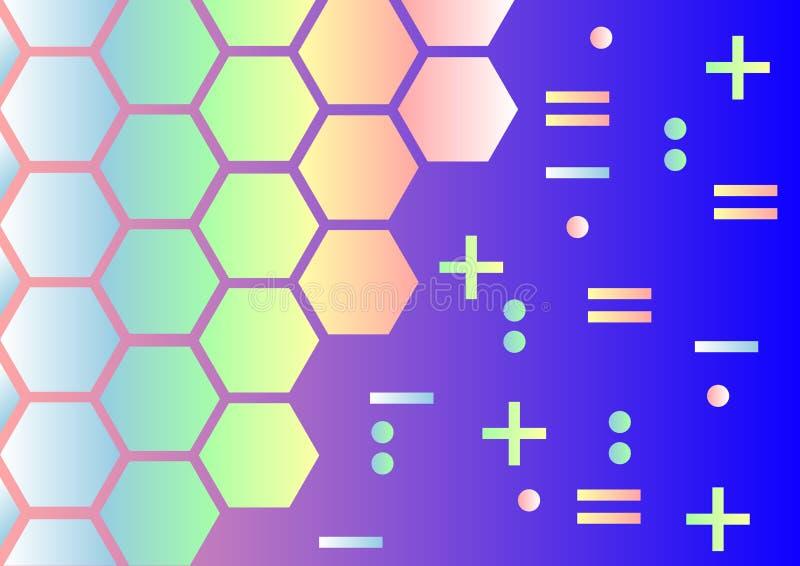 Предпосылка абстракции голографическая иллюстрация вектора