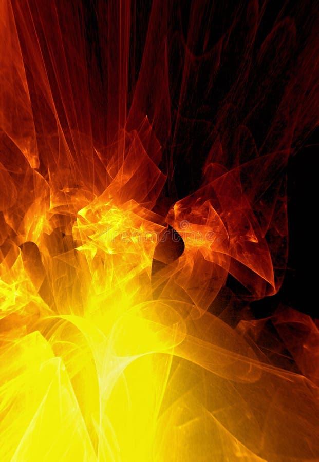 предпосылка абстракции пламенистая иллюстрация вектора
