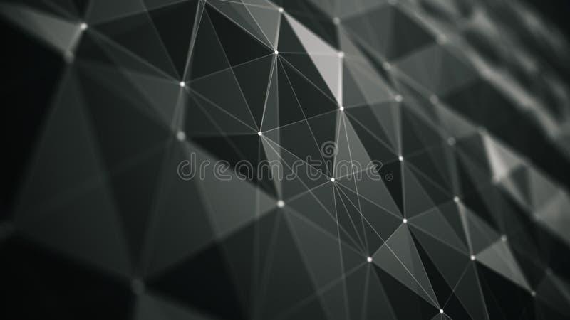 Предпосылка абстракции футуристическая для дизайна бесплатная иллюстрация