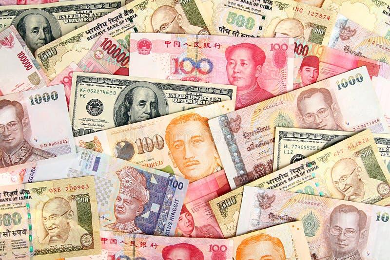Предпосылка азиатской валюты. стоковые фото