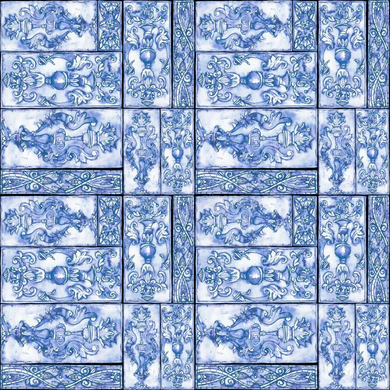 Предпосылка акварели безшовная богато украшенная винтажная иллюстрация вектора
