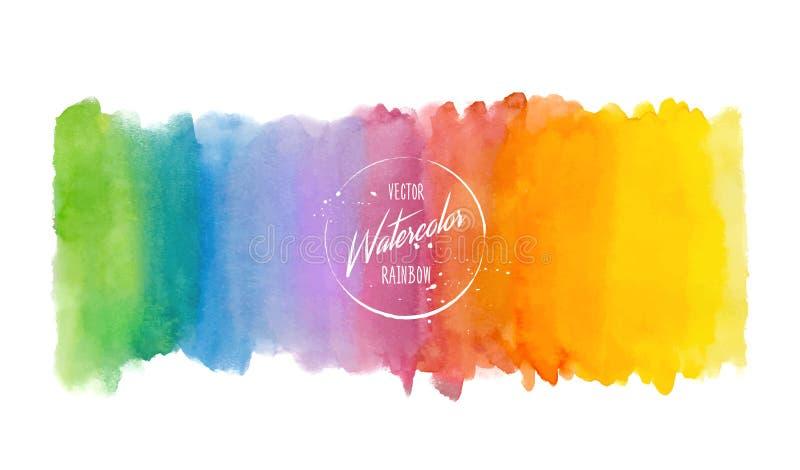 Предпосылка акварели конспекта радуги Пятна акварели руки вычерченные пестротканые бесплатная иллюстрация
