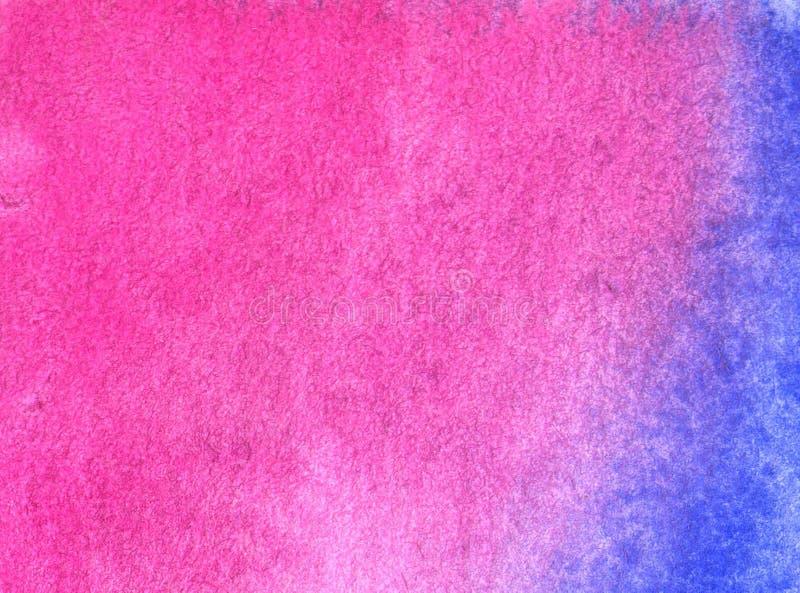 Предпосылка акварели красная с абстрактными картиной и текстурой иллюстрация вектора