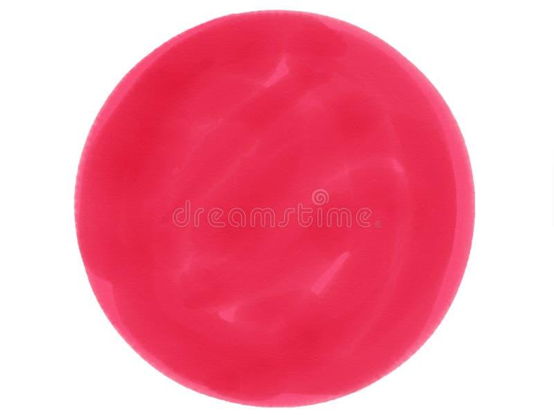 предпосылка акварели логотипа круга Мягк-цвета винтажная пастельная абстрактная с покрашенными тенями красного цвета стоковые изображения rf
