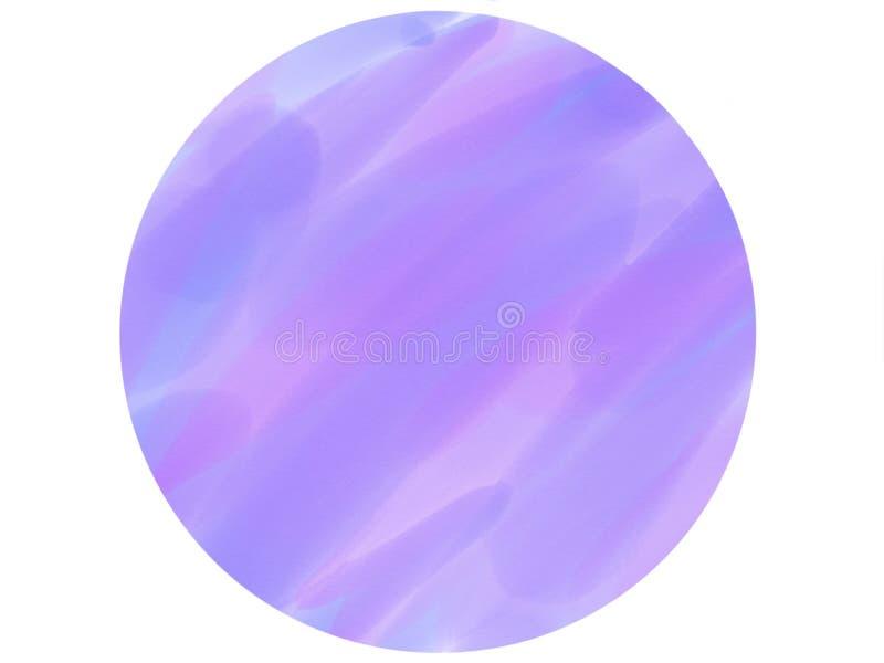 предпосылка акварели логотипа круга Мягк-цвета винтажная пастельная абстрактная с покрашенными тенями фиолетового цвета стоковая фотография rf