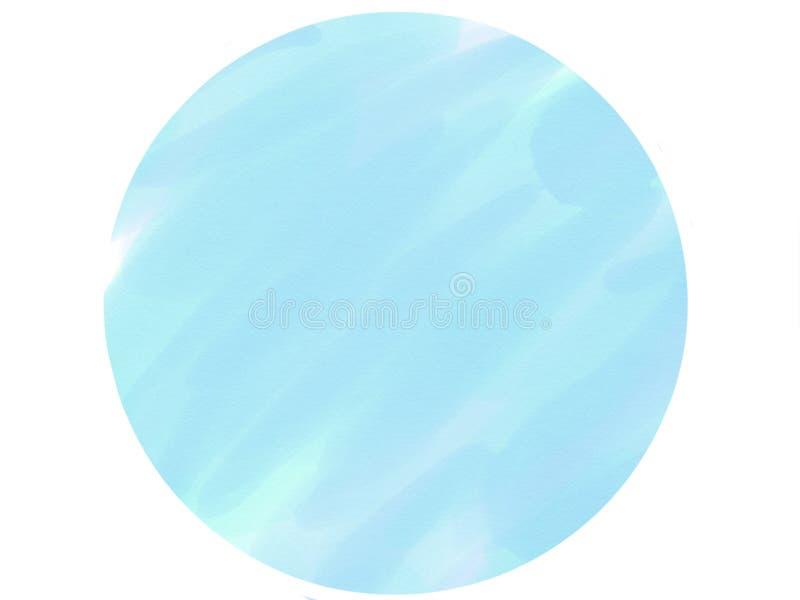 предпосылка акварели логотипа круга Мягк-цвета винтажная пастельная абстрактная с покрашенными тенями голубого цвета стоковая фотография