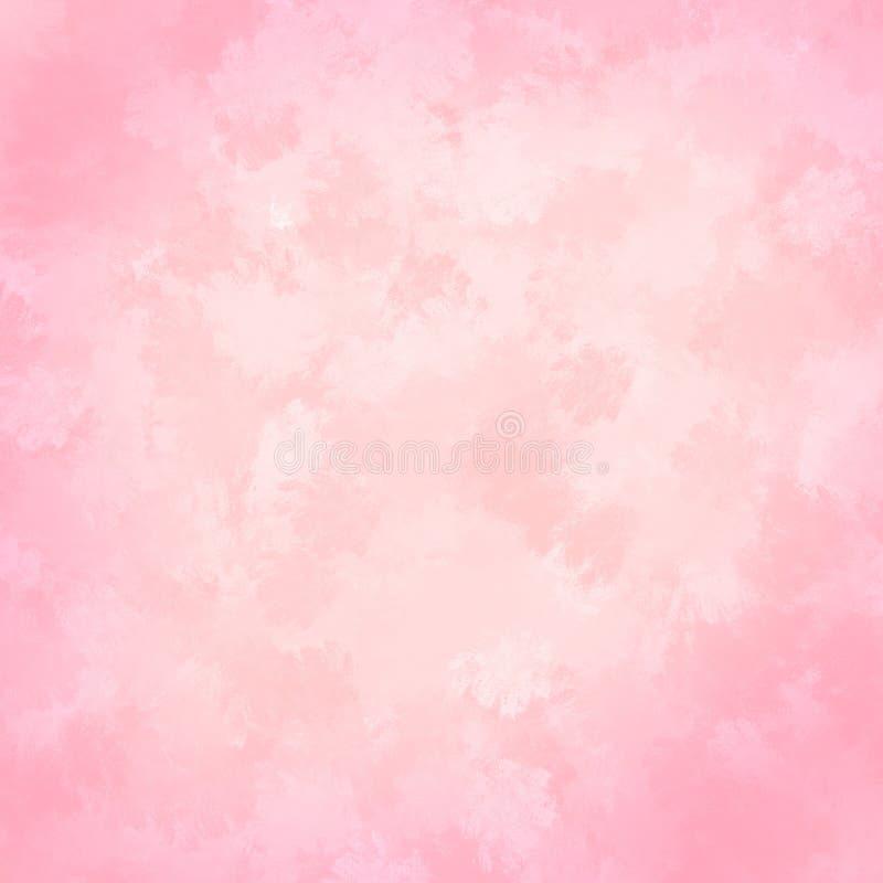 Предпосылка акварели розовой покрашенная рукой Абстрактная текстура хода щетки иллюстрация вектора