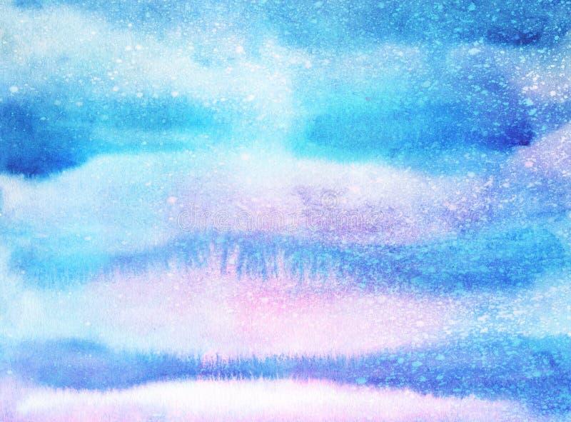 Предпосылка акварели яркой покрашенная рукой Handmade постаретая бумажная текстура Grunge overlay для карточек, приглашений, сети иллюстрация штока