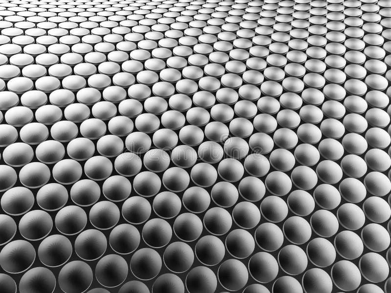 Предпосылка алюминиевой конструкции дисков волнистая иллюстрация 3d иллюстрация вектора