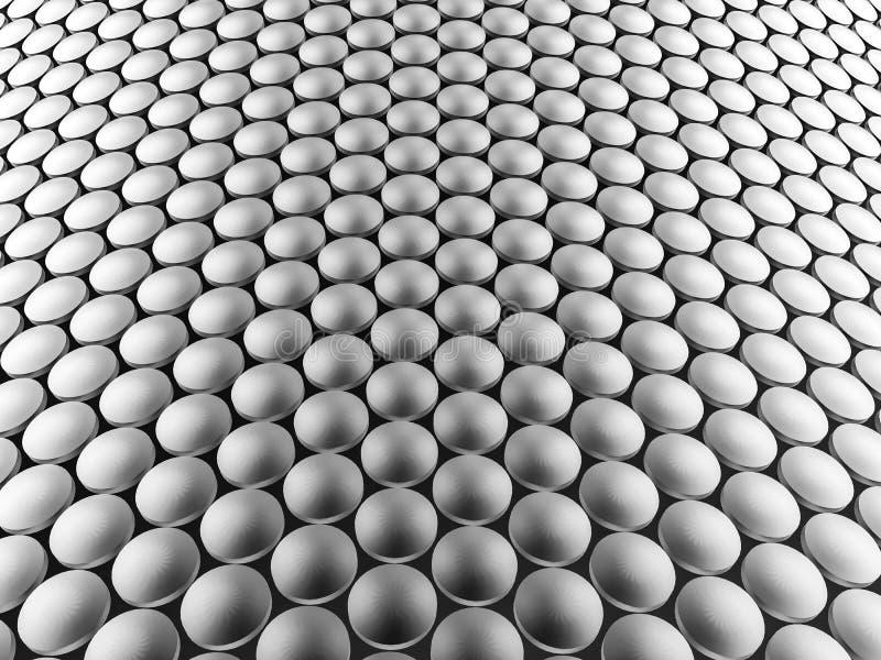 Предпосылка алюминиевой конструкции дисков волнистая иллюстрация 3d иллюстрация штока