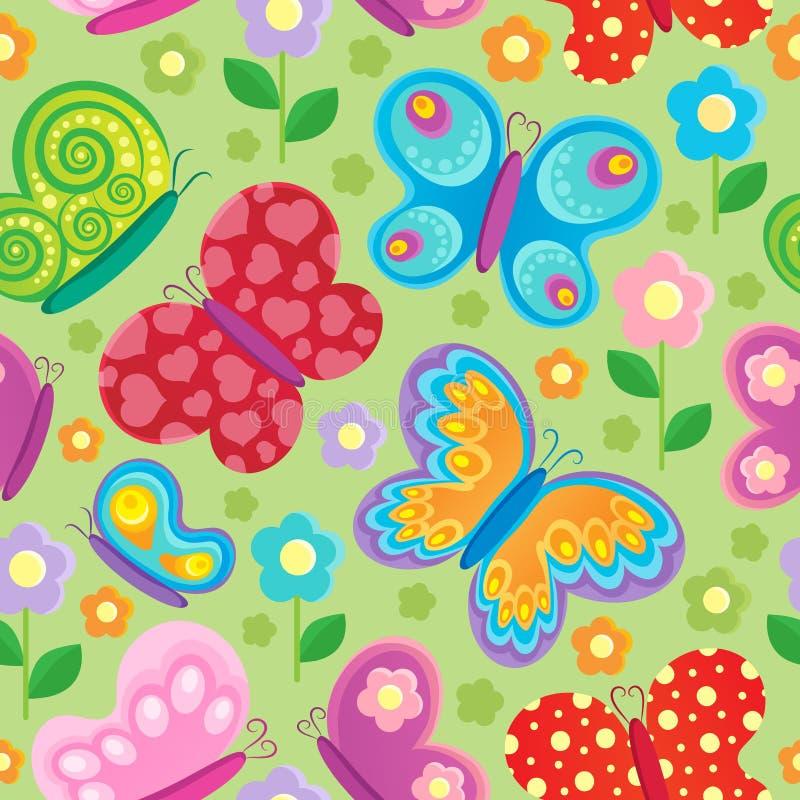 Предпосылка бабочки безшовная иллюстрация вектора