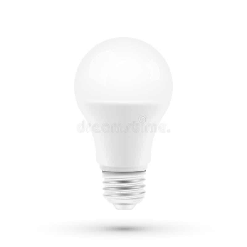 Предпосылка белизны bulbon света СИД также вектор иллюстрации притяжки corel бесплатная иллюстрация