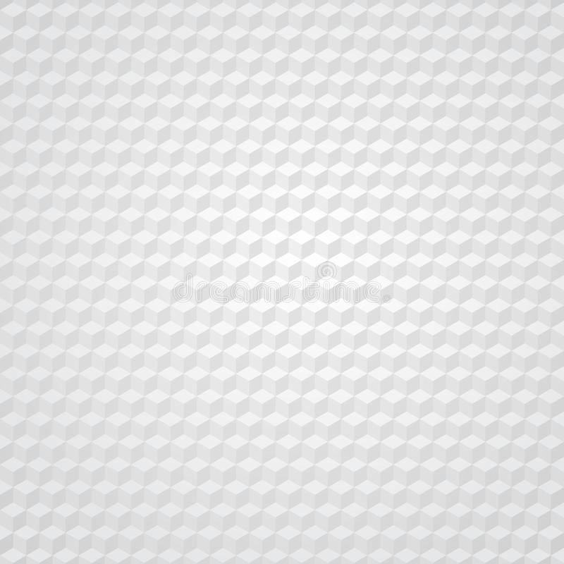 Предпосылка белого кубика ретро иллюстрация вектора