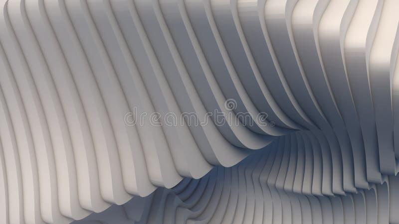 Предпосылка белой картины нашивки футуристическая иллюстрация 3d представляет бесплатная иллюстрация