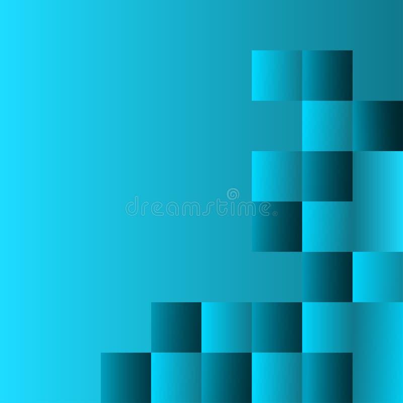 Предпосылка бирюзы конспекта геометрическая с квадратами r бесплатная иллюстрация
