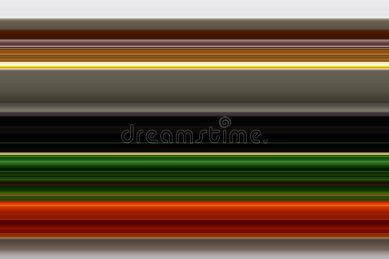 Предпосылка Брауна, апельсина, зеленых и черных горизонтальных прямых иллюстрация штока
