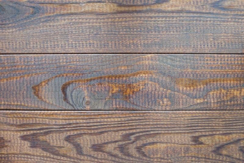 Предпосылка Брауна деревянные или текстура, горизонтальные, взгляд сверху космоса экземпляра стоковое изображение rf