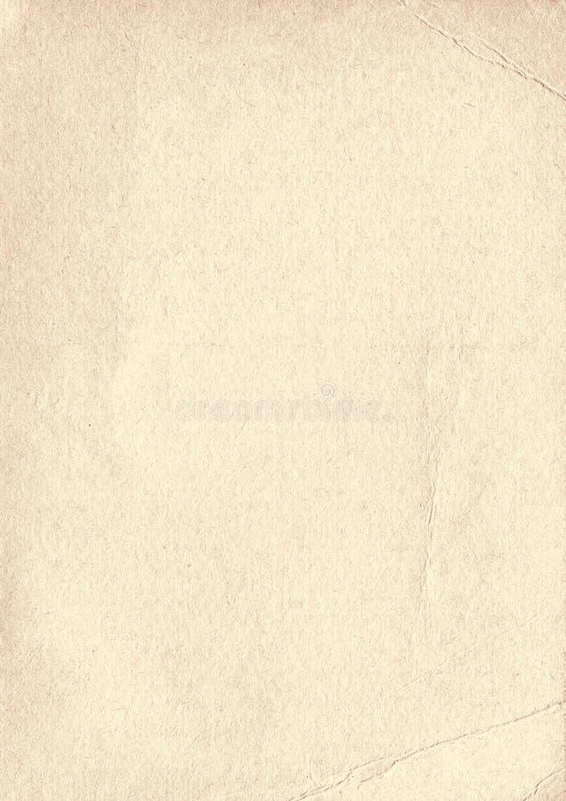 Предпосылка бумаги текстуры вертикального бежевого grunge старая иллюстрация штока