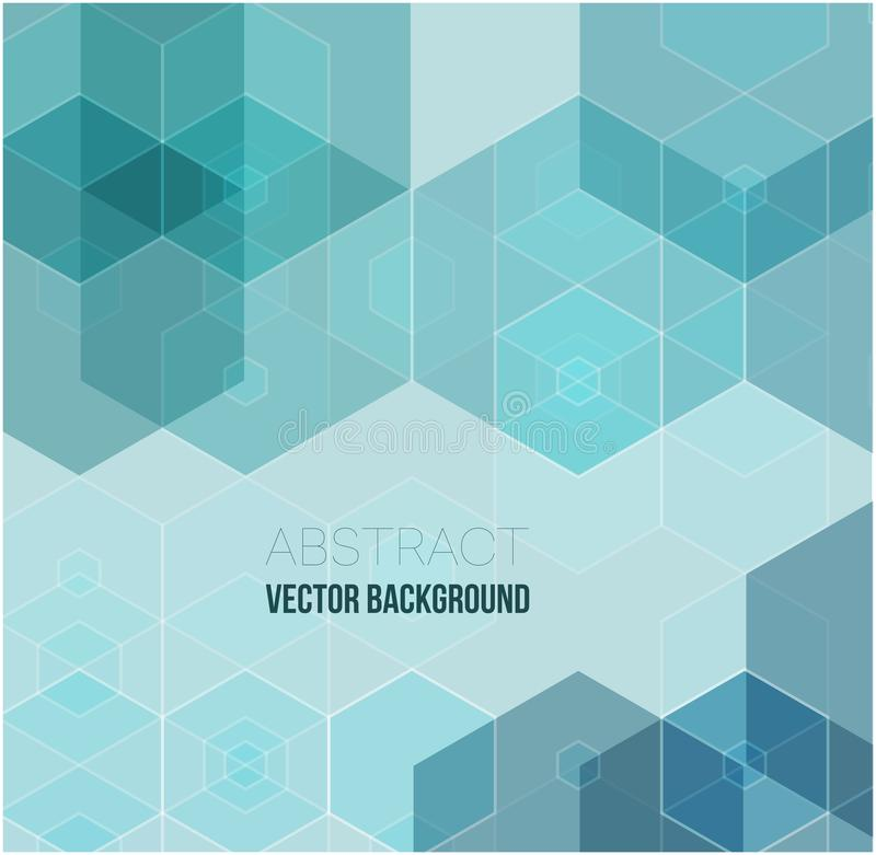 Предпосылка вектора абстрактная геометрическая Дизайн брошюры шаблона Зеленая форма шестиугольника бесплатная иллюстрация