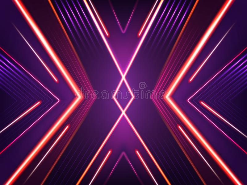 Предпосылка вектора абстрактная неоновая Яркая сияющая картина иллюстрация вектора