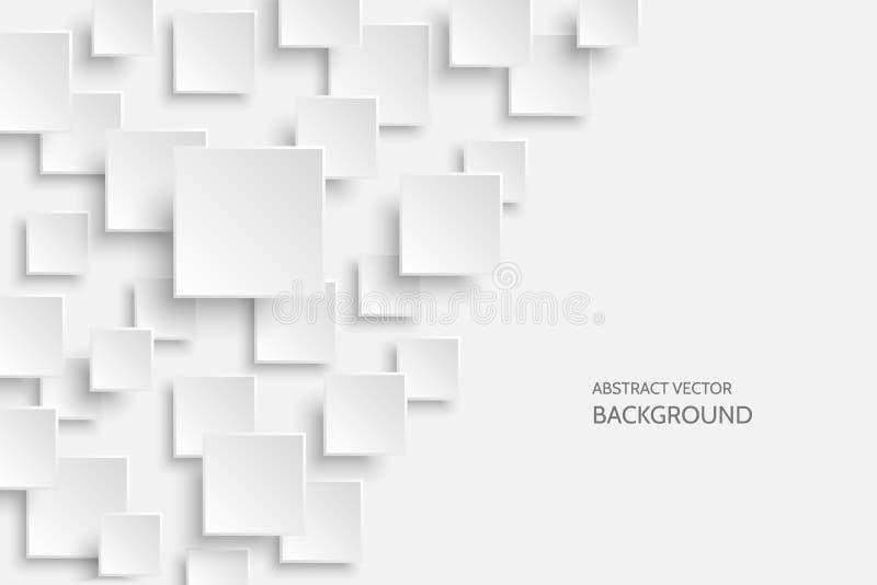 Предпосылка вектора белая современная абстрактная бесплатная иллюстрация