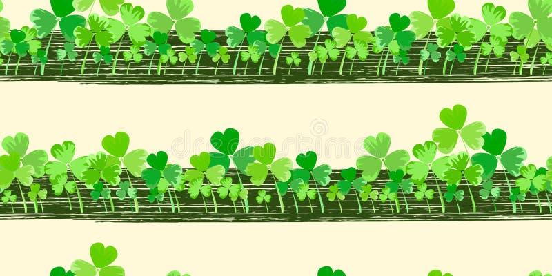 Предпосылка вектора дня ` s St. Patrick горизонтальная бесплатная иллюстрация