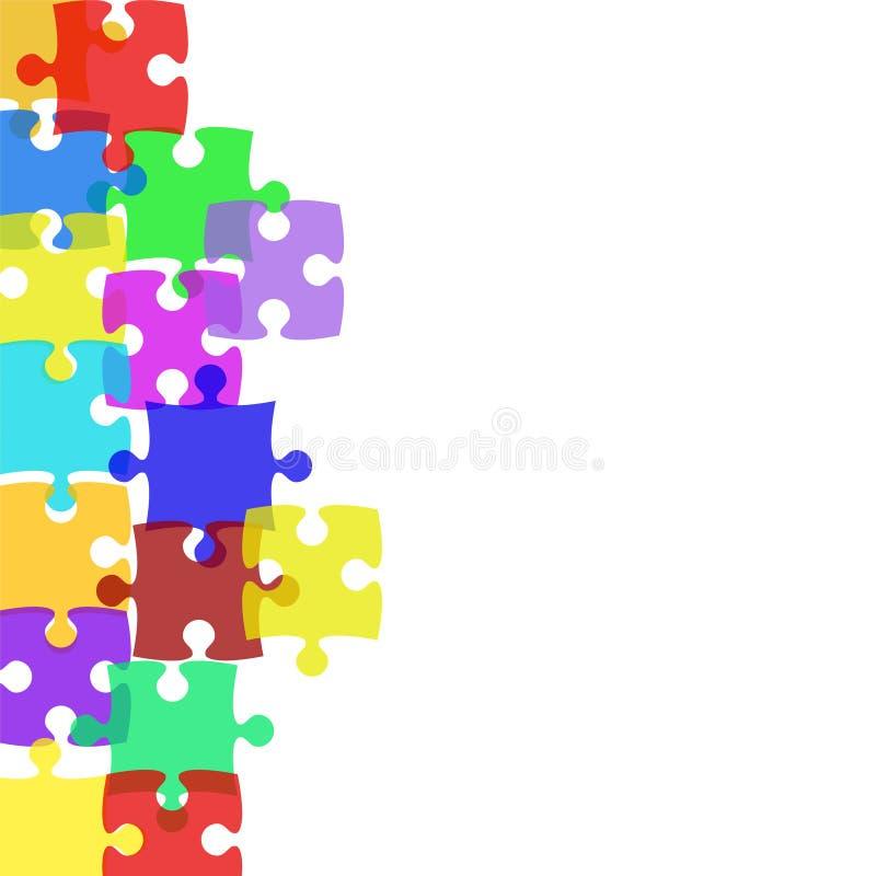 Предпосылка вектора запаса с элементами головоломки иллюстрация штока