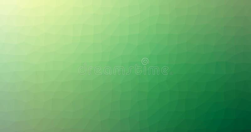 Предпосылка вектора зеленого стекла Squareblur градиента низкого поли триангулярного геометрического полигонального абстрактная иллюстрация вектора