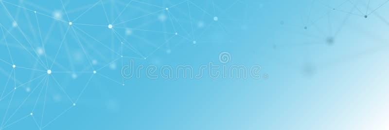 Предпосылка вектора знамени сети технологии иллюстрация штока
