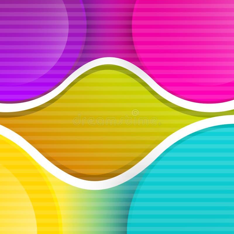 Предпосылка вектора конспекта красочная ретро иллюстрация вектора