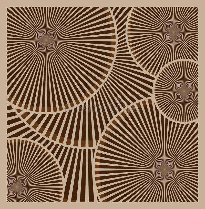 Предпосылка вектора коричневая абстрактная Абстрактные бежевые круги, колеса иллюстрация штока