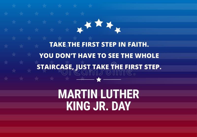Предпосылка вектора праздника дня младшего Мартин Лютер Кинга - вдохновляющая цитата бесплатная иллюстрация