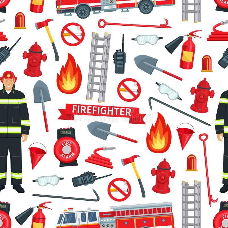 Предпосылка вектора противопожарной картины безшовная бесплатная иллюстрация