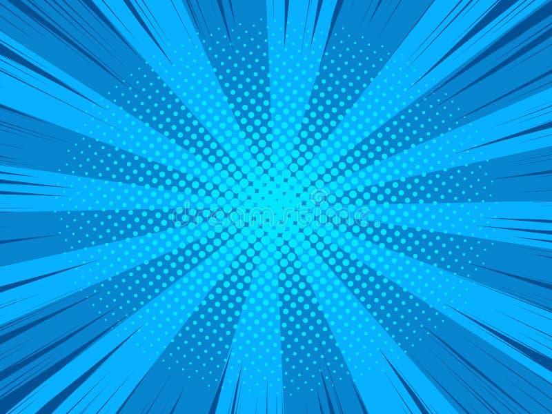 Предпосылка вектора супергероя комика текстуры полутонового изображения иллюстрация вектора