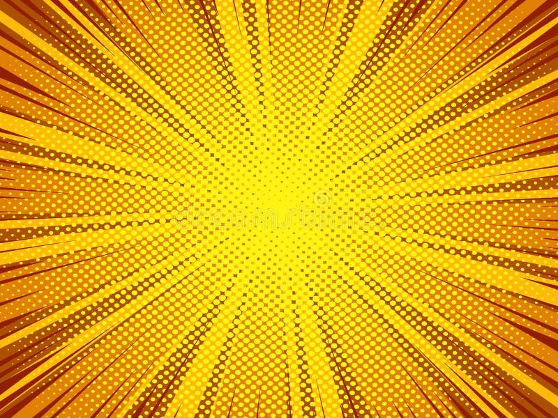 Предпосылка вектора супергероя комика текстуры полутонового изображения иллюстрация штока