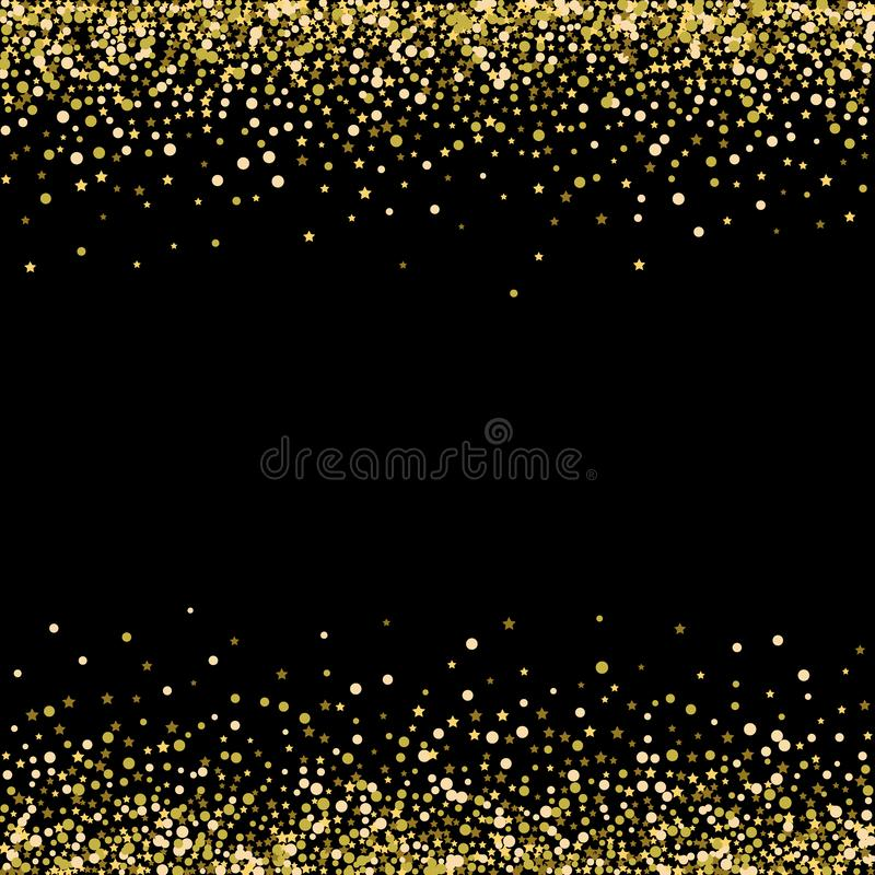 Предпосылка вектора черная с искрой яркого блеска золота, шаблоном поздравительной открытки иллюстрация вектора