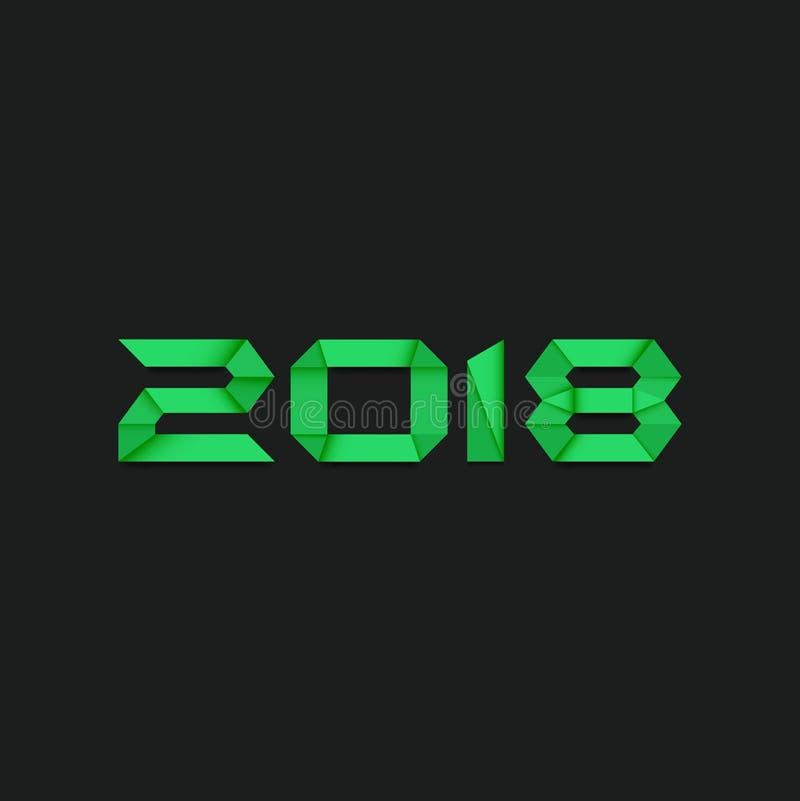 Предпосылка 2018, вектор, иллюстрация, файл Нового Года Eps бесплатная иллюстрация