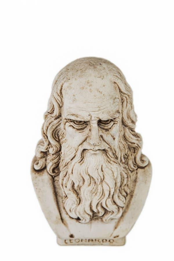 Предпосылка верхней части Леонардо Да Винчи белая стоковая фотография rf