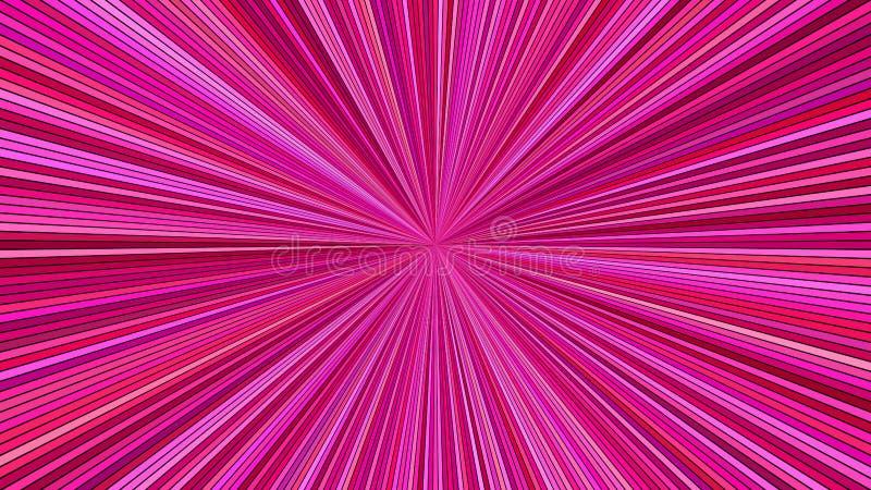 Предпосылка взрыва луча пинка гипнотическая абстрактная от striped лучей иллюстрация вектора