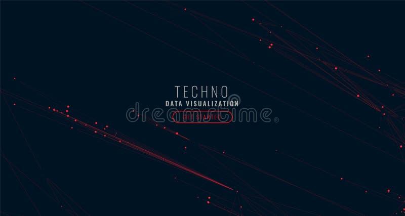 Предпосылка визуализирования данным по конспекта цифровая большая иллюстрация штока