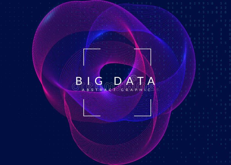 Предпосылка визуализирования Технология для больших данных, искусственная внутри иллюстрация вектора