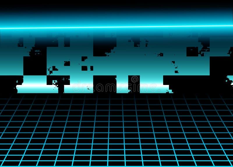 Предпосылка виртуального пространства, поверхность цифров стоковое изображение