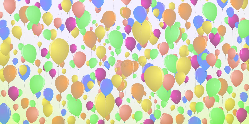 Предпосылка воздушных шаров плотно летая иллюстрация штока