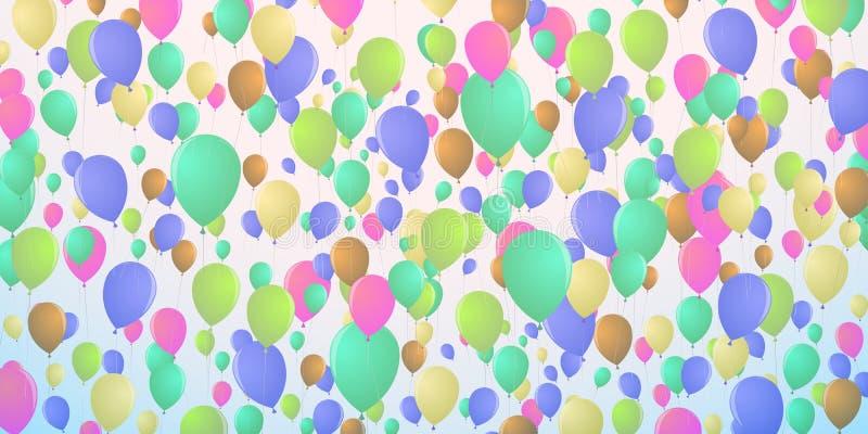 Предпосылка воздушных шаров плотно летая иллюстрация вектора