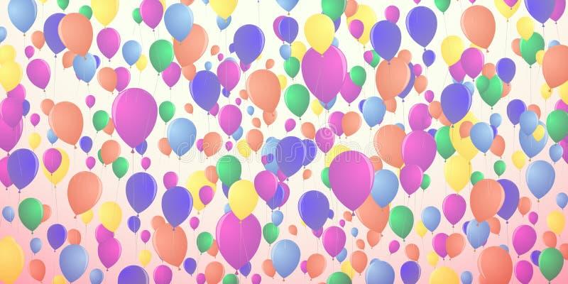 Предпосылка воздушных шаров плотно летая бесплатная иллюстрация
